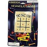 Windy City Novelties Wooden Tic Tac Toe Peg Desk Game