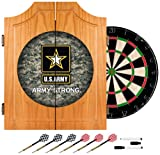 Trademark Gameroom United States Army Wood Dart Cabinet Set