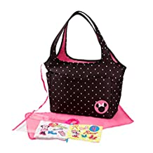 Disney Minnie Mouse Large Tote with Crinkle Toy Book, Black