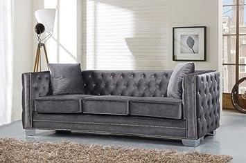 Perfect Meridian Furniture Inc Reese Sofa With Toss Pillows