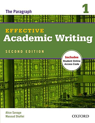 Effective Academic Writing 2e Student Book 1