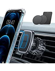 LISEN Phone Holder Car, [Strong Clip] Magnetic Phone Mount [6 Strong Magnets] Car Phone Holder [Case Friendly] phone Car Holder Car Mount For iphone Compatible With All Smartphone And Tablets