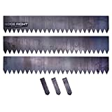 Edge Right - Hammer-In Landscape Edging - 8 inch depth - 14-Gauge Cor-Ten Steel (12 feet total)