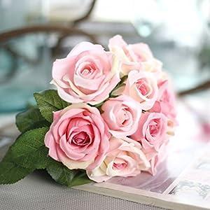 XGM GOU Rose Artificial Flowers Wedding Decoration 9 Pcs/Lot DIY Flower Flores Silk Flowers Bouquet Bride Holding Flowers Home Decor 20