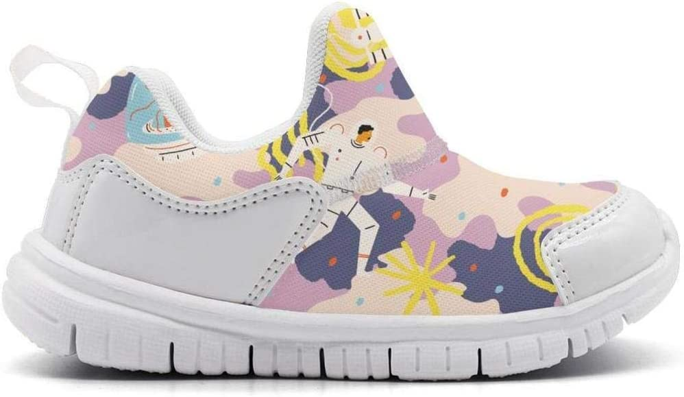 ONEYUAN Children Astronaut and Space Cat Kid Casual Lightweight Sport Shoes Sneakers Walking Athletic Shoes