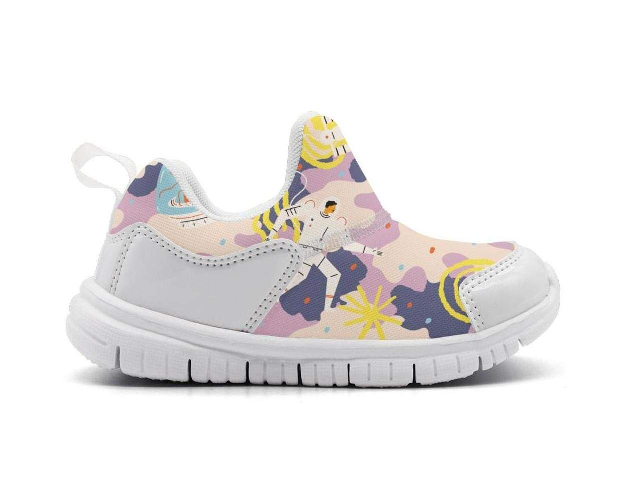 ONEYUAN Children Astronaut and Space Cat Kid Casual Lightweight Sport Shoes Sneakers Running Shoes