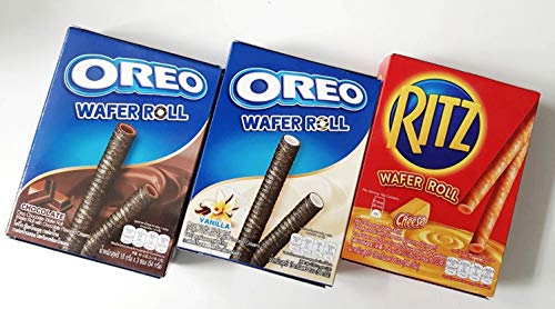 Oreo Wafer Roll & RITZ Cheese Wafer Roll Pack of 3 (Product of Thailand)