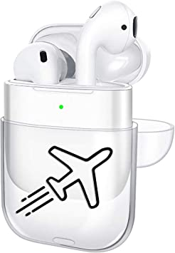 Oihxse Case Compatible con Apple Airpods 1 & 2 Estuche Transparente Rígido PC Lindo de Moda Diseño Funda 360° Protectora Antigolpes Resistente Carcasas para Airpods 2 y 1 Niñas Niños (Avión 2): Amazon.es: Electrónica
