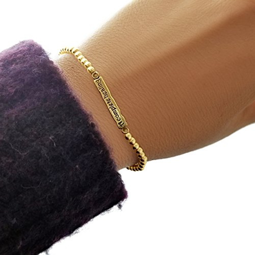 A Healing Prayer Bracelet from Scripture in Hebrew & English -Yellow Gold for Blessing & Good Health ()