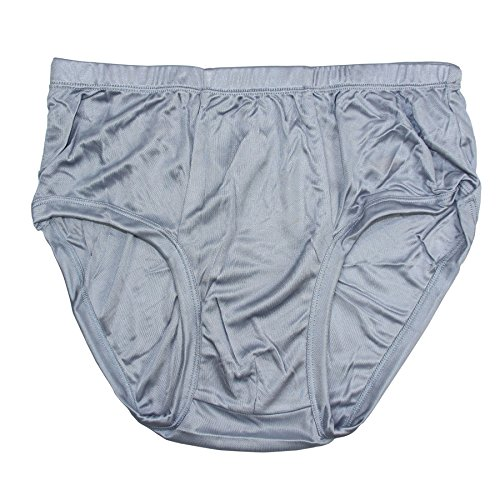 Paradise Silk Pure Silk Knitted Men's Briefs BSY9112[Gray,USXL] (Silk Underwear Knit)
