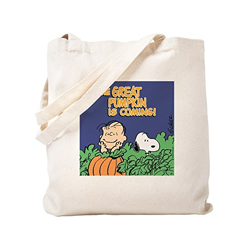CafePress - Great Pumpkin Trick Or Treat Bag - Natural Canvas Tote Bag, Cloth Shopping Bag ()