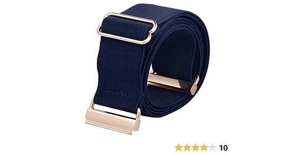 cintur/ón el/ástico invisible con hebilla para vestidos pantalones vaqueros KYEYGWO Cinturones de vestir para mujer