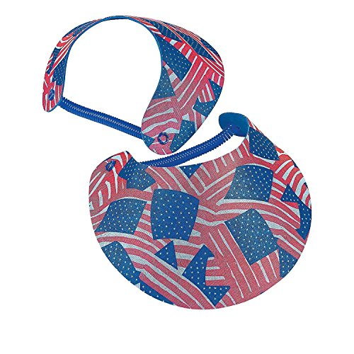 Bargain World Foam Patriotic Visors (With Sticky Notes) (Foam Visors Patriotic)