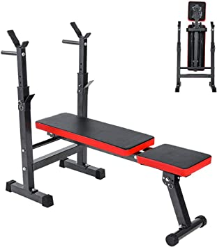 Home Fitness Dumbbell Weight Bench Barbell Lifting Folding Adjustable Bench T