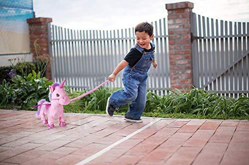 Electric Unicorn Pet Kids Leash Plush Pink Wings Stuffed Animal Toy,Sing Song Walk Twisting Super Cute Ass Unicorn Child Girl Baby Accompany Sleeping Animal Soft Toys Gift by Pink stars (Image #6)