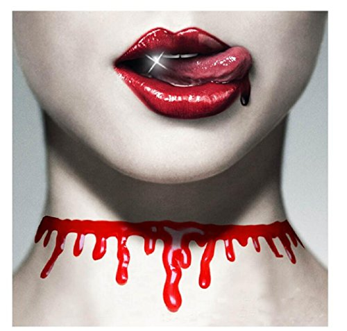 Yuriao Jewelry Halloween Bloody Cutting Bloodstain Chokers Necklace