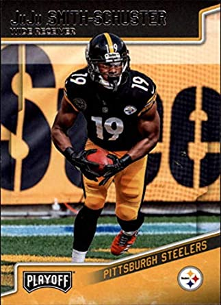 27faadbc314 2018 Playoff Football #167 JuJu Smith-Schuster Pittsburgh Steelers Official  NFL Trading Card made