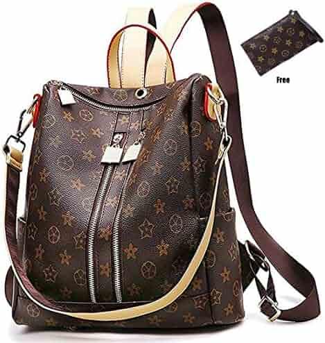 Casual Purse Fashion School Leather Backpack Crossbady Shoulder Bag Mini  Backpack for Women   Teenage Girls d802d481c9392