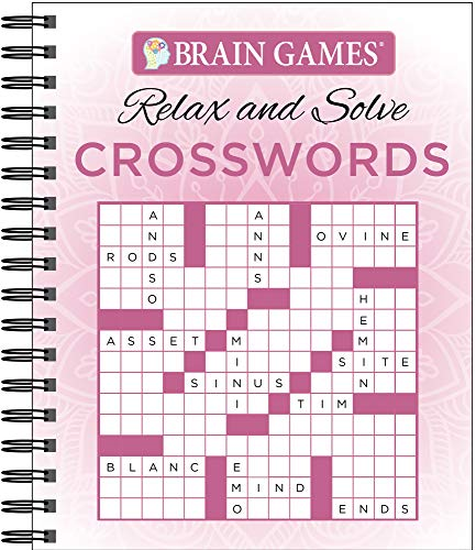 Brain Games - Relax and Solve: Crosswords (Pink)
