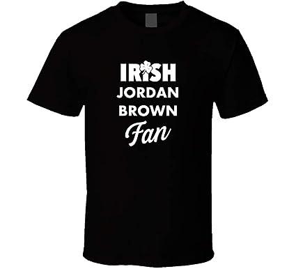 cfc16a9ce45 Irish Jordan Brown Fan Reno Nevada St. Patrick's Day Basketball T Shirt S  Black