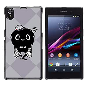 YOYOSHOP [Cool Tattoo Monster] Sony Xperia Z1 L39h Case