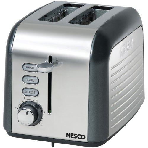 1 - 2-Slice Toaster (Gray/Chrome), 100W, 1.5
