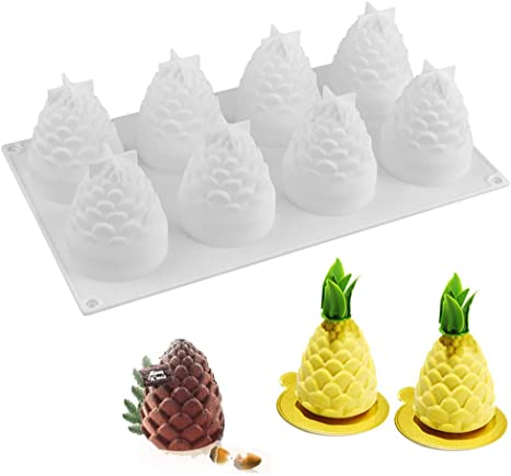 Candle Wax Soap Plaster Resin Polymer Clay Candy Chocolate Cake Pine cone Handmade Silicone Mold