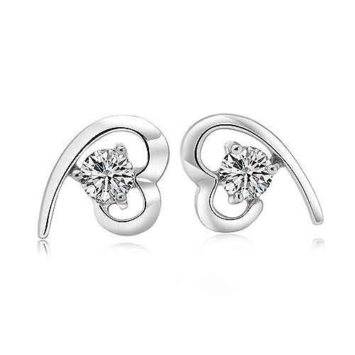"Maysa Jewelry "" Sophia "" Damen Ohrringe / Ohrstecker aus 925 Sterling Silber mit Kristall ..."
