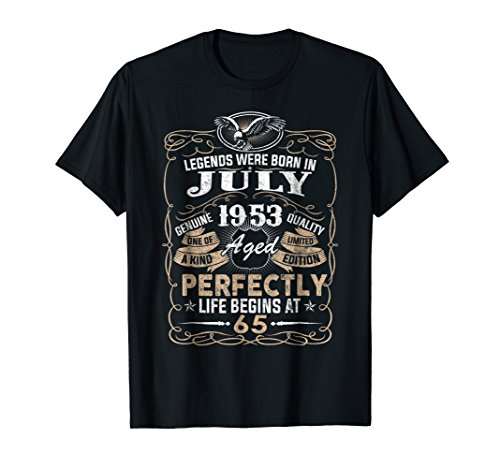 Price comparison product image Legends Born In JULY 1953 65th Awesome Birthday Gift Shirt