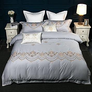Super Weiche Bettwäsche Set/Betten Sammlung, Falten, Fade Und  Schmutzabweisende, Einfach Grau