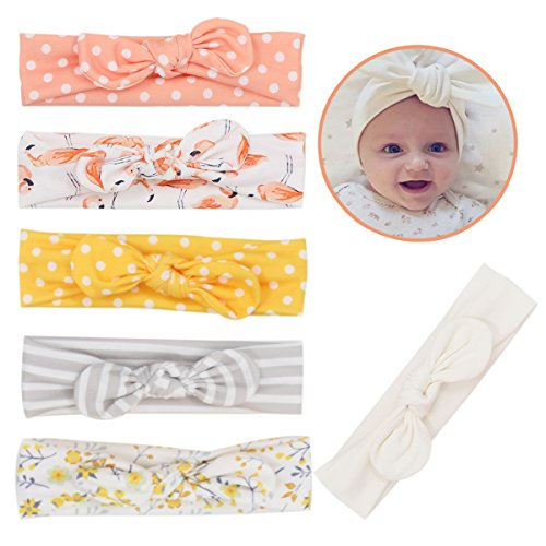 Mookiraer Newest Baby Headbands Turban Knotted Girl Hairbands Toddler Childrens