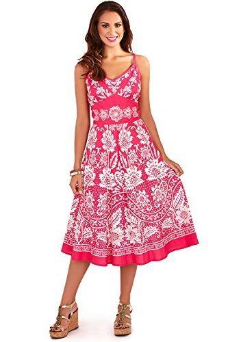 para Rose Vestido Plisado la Pistachio a Dama Rodilla Veraniego Points Florale wCqgqF