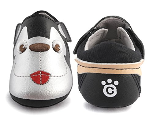 cartoonimals Babyschuhe Mädchen Jungen Neugeborene Weiche Rutschsicheren Baby Kinder Schuhe Bernardo Black