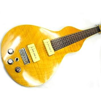 Miiliedy 24 trastes Guitarras eléctricas hawaianas Personalidad Moda Guitarras eléctricas con forma de calabaza Adecuado para Rock Roll Blues Heavy Metal ...