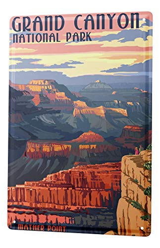 LEotiE SINCE 2004 Tin Sign Metal Plate Decorative Sign Home Decor Plaques Holiday Travel Agency Grand Canyon ()