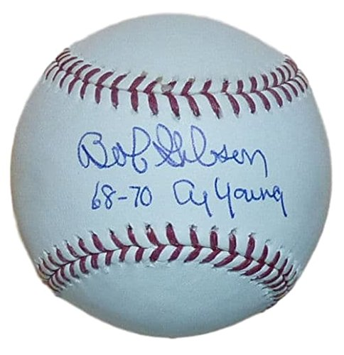 Bob Gibson Autograph (Bob Gibson Autogarphed St Louis Cardinals MLB Baseball w/68-70 Cy Young insc)