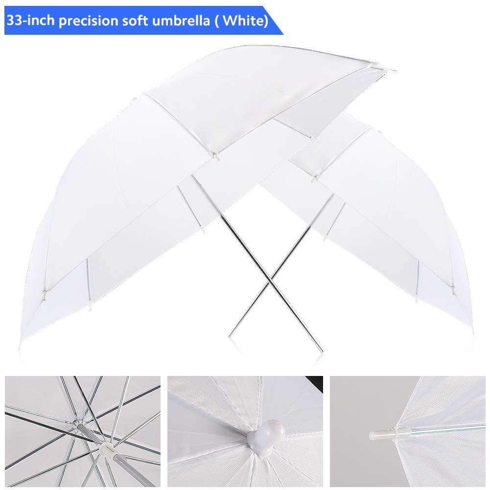 Photography Umbrella Lighting Kit, 600W 5500K Day Light Continuous Studio Lights Equipment for Portrait Video Studio Shooting by RALENO by RaLeno (Image #9)
