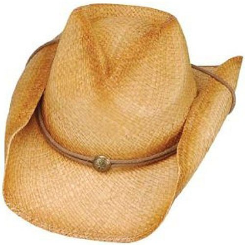 [Peter Grimm - Drifters Tea Stained ROUNDUP Style Hat One Size] (Straw Farmer Hats)