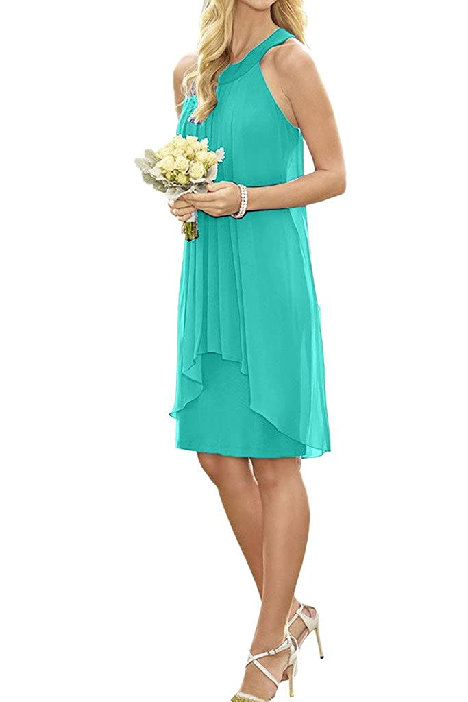 Green Avril Dress Cheap Sheath Halter Sleeveless Bridesmaid Homecoming Dress Mini