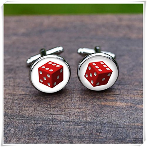 Dice cufflinks Luck dice cufflink Wedding Special cufflinks
