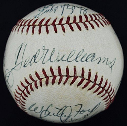 1960s Mickey Mantle Joe DiMaggio Ted Williams Signed OAL (Cronin) Ball 7.5 - PSA/DNA Certified - Autographed Baseballs