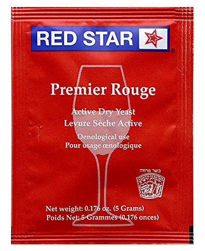 Red Star Premier Rouge (Pasteur Red) Wine Yeast - 1 Pack (5 grams) (Red Premier Wine)