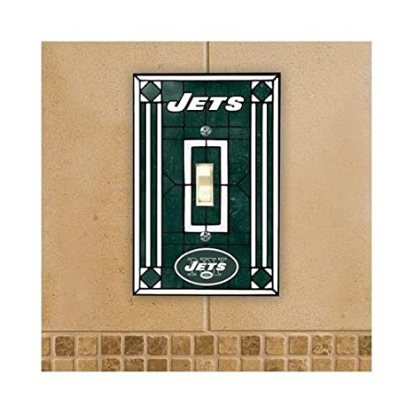 Amazoncom Nfl New York Jets Green Art Glass Switch Plate Cover