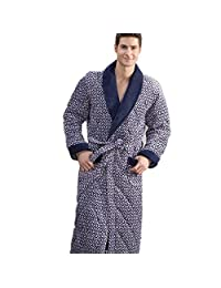 DMMSS Men's Long Sleeve Bathrobes Winter Pajama Thickening Nightgown , 1 , l