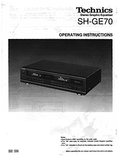 (Technics SH-GE70 Equalizer Owners Instruction Manual)