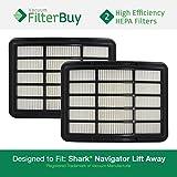 2 Shark HEPA Filters for Shark Navigator Lift-Away NV350, NV351, NV352, NV355, NV356, NV356E, NV357. Designed by FilterBuy to Replace Shark Part # XHF350.
