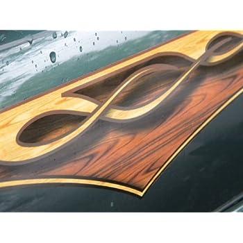 Amazon Com East Coast Vinyl Werkz Wood Panel Flame Decals
