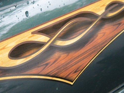 (East Coast Vinyl Werkz Wood Panel Flame decals - 2 piece set)