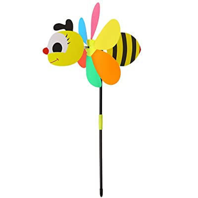 Yuxiale New Sell Large Animal Bee Windmill Wind Spinner Whirligig Yard Garden Decor: Toys & Games