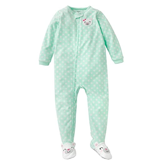 6940bb7b1 Amazon.com  Carter s Little Girls  Mint Polar Bear Fleece Blanket ...